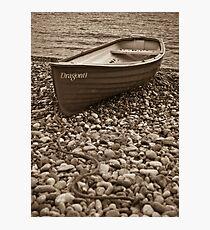 Beached boat - Beer Devon Photographic Print