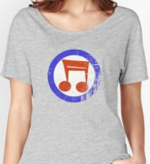 Music Mod Distressed Women's Relaxed Fit T-Shirt