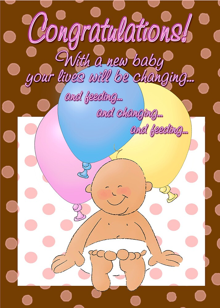 Quot Humorous Congratulations On First Baby Quot By