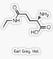 Tee. Earl Grey. Heiß. (Schwarze Version) Sticker