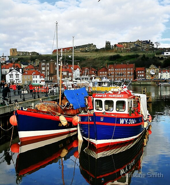 The Jennifer-Margaret & Friend, Whitby, England by Christine Smith