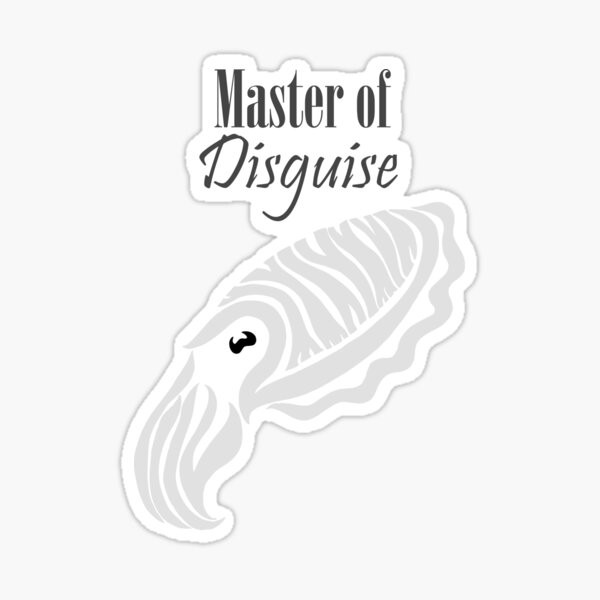 Master of Disguise - Tribalish Cuttlefish (for light-colored items) Sticker