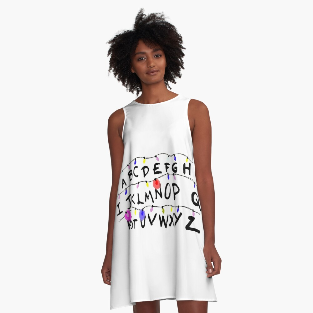 ABCD leuchtet A-Linien Kleid