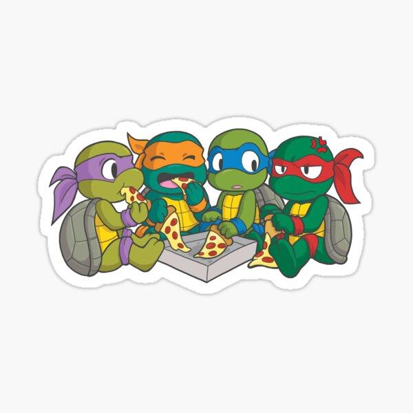 Teenage Mutant Ninja Turtles MICHELANGELO CHIBI BABY ON BOARD STICKER WARNING