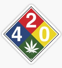 420 Caution Sign Fun Sticker