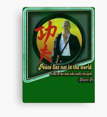 Kung Fu vintage 'aged' version Canvas Print