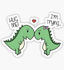 Dino Love! (Hug Me!) Sticker