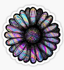 Rainbow Swirl Flower Sticker