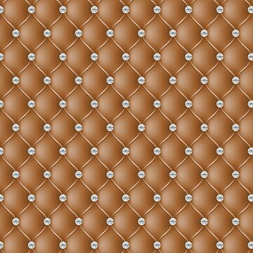 Elegant Bronze Diamond Tufted Look Upholstery Pattern by jollypockets