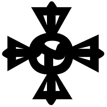 Cross Tibetan Symbol Rdo Rje Rgya Gram ࿇ by znamenski