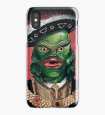 Renaissance Victorian Portrait - Creature from the Black Lagoon iPhone Case/Skin