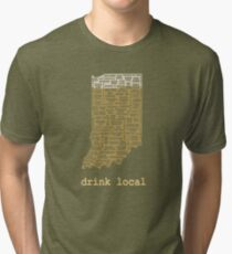Drink Local - Indiana Beer Shirt Tri-blend T-Shirt