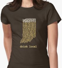 Drink Local - Indiana Beer Shirt Women's Fitted T-Shirt