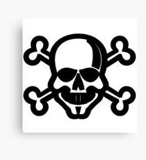 Clip Art Skull and Crossbones Unicode Character ☠ (U+2620) Canvas Print