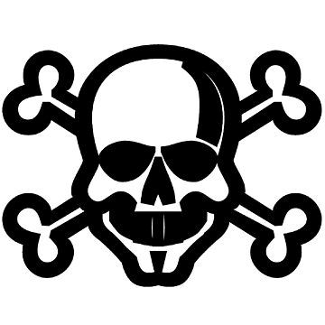 Skull and Crossbones Unicode Character ☠ (U+2620) by znamenski
