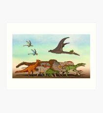 Mesozoic Procession Art Print