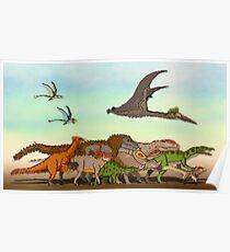 Mesozoic Procession Poster