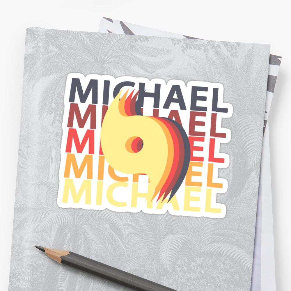 Hurricane Michael 2018 Tropical Storm Vintage Repeat Sticker Front