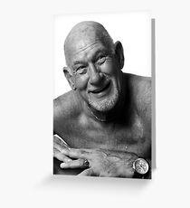 Elderly Gent Greeting Card