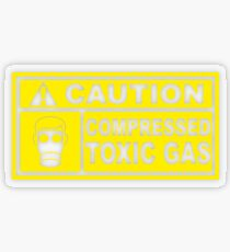 Caution - Compressed Toxic Gas Transparent Sticker
