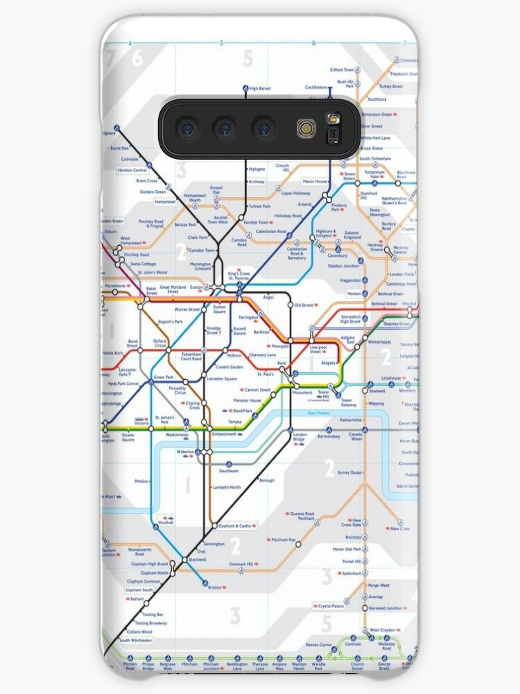 Map Of England Underground.London Tube Underground Map England Uk Hd Case Skin For Samsung Galaxy By Superfunky