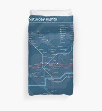 London - Night Tube Map - England - UK - HD Duvet Cover