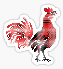 Cock pattern - Romanian Folk Art Sticker