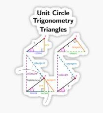 Unit Circle Trig Triangles Sticker