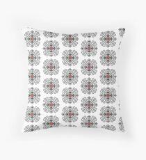 Sacred Flower Folk Art design Throw Pillow