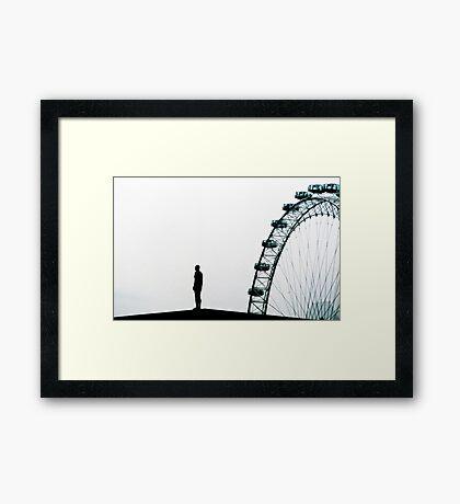 Eye & figure Framed Print