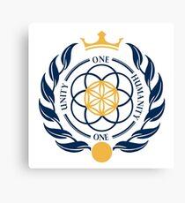 One Unity One Humanity Coat of Arms #Asgardia  #SpaceKingdom #SpaceNation #MicroNation  Canvas Print