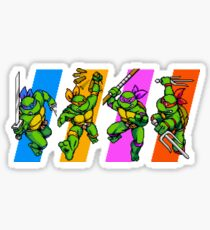 TMNT Turtles in Time Characters Sticker