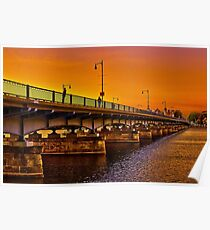 Sunset over Harvard Bridge Poster
