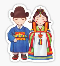 Korean Wedding Dolls Sticker