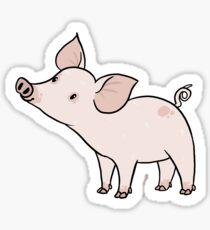 Cartoon Farm Animal Stickers | Redbubble