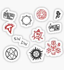 Supernatural Sigils and Symbols Sticker