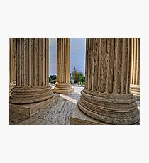 Supreme Court View of the US Capitol Photographic Print