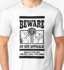 Beware the Evil Seagulls Unisex T-Shirt
