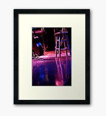 Stage Awaits Framed Print