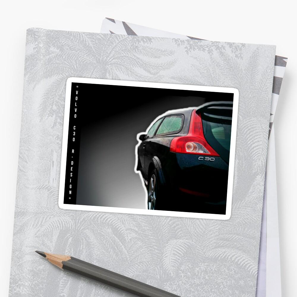 Volvo c30 r design sticker by neurox redbubble