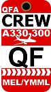 QF Airbus A330-300 Crew Melbourne by AvGeekCentral