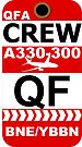 QF Airbus A330-300 Crew Brisbane by AvGeekCentral