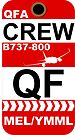 QF Boeing 737-800 Crew Melbourne by AvGeekCentral