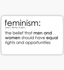 Pegatina La verdadera definición del feminismo