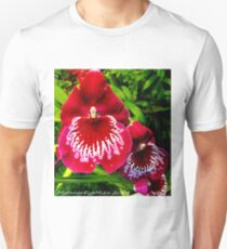 #295          Red & White Orchid T-Shirt