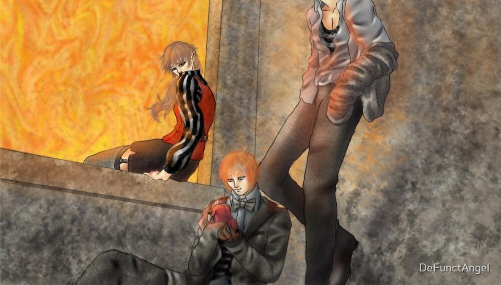 Cast in firelight  by DeFunctAngel