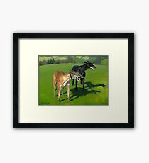 Greyhound Portrait - Oil on Canvas Framed Print