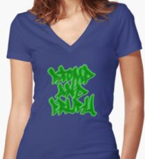 Stomp and Crush - 2015 - Green Fitted V-Neck T-Shirt