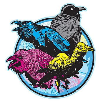 CMYK BIRDS by MattFontaine