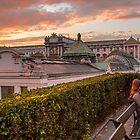 Österreich. Wien. Sonnenuntergang in der Kaiserstadt. von vadim19